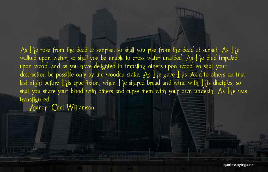 Sunset Over Water Quotes By Chet Williamson