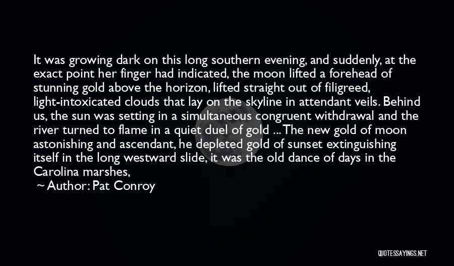 Sunset Over Water Quotes By Pat Conroy