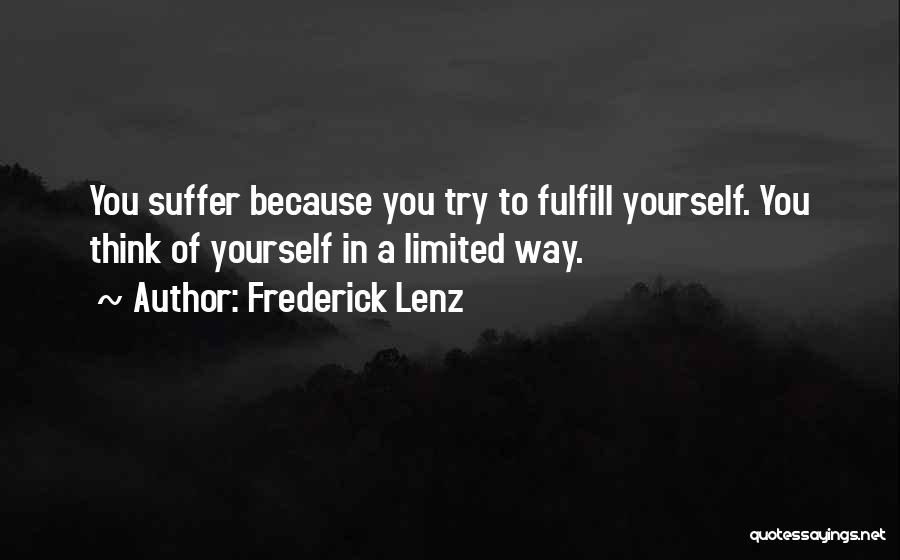 Sup Yoga Quotes By Frederick Lenz