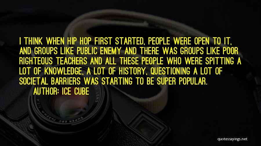 Super Thinking Quotes By Ice Cube