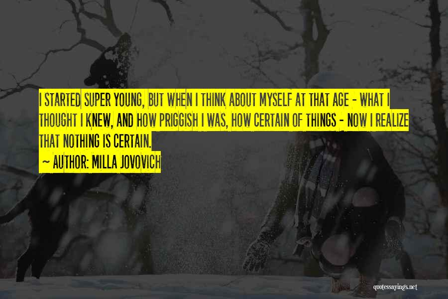 Super Thinking Quotes By Milla Jovovich