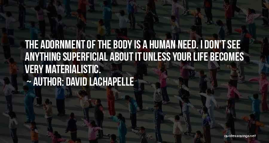 Superficial Materialistic Quotes By David LaChapelle