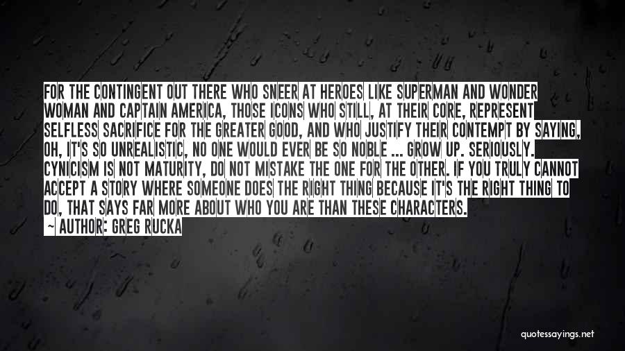 Superman Wonder Woman Quotes By Greg Rucka