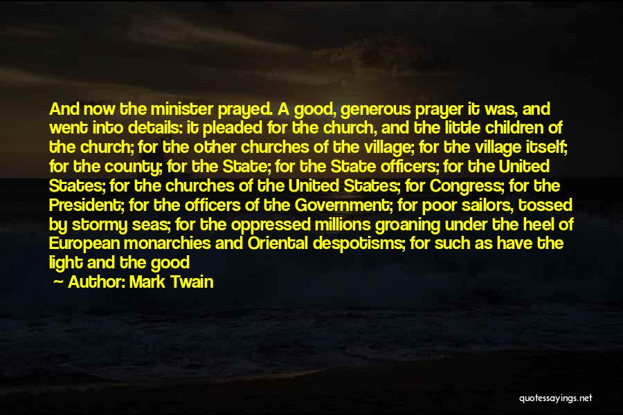 Supplication Prayer Quotes By Mark Twain