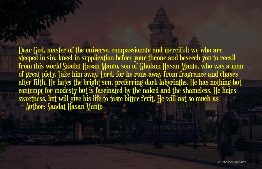 Supplication Prayer Quotes By Saadat Hasan Manto