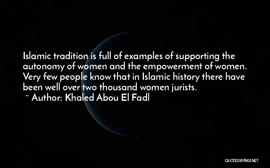 Supporting Quotes By Khaled Abou El Fadl