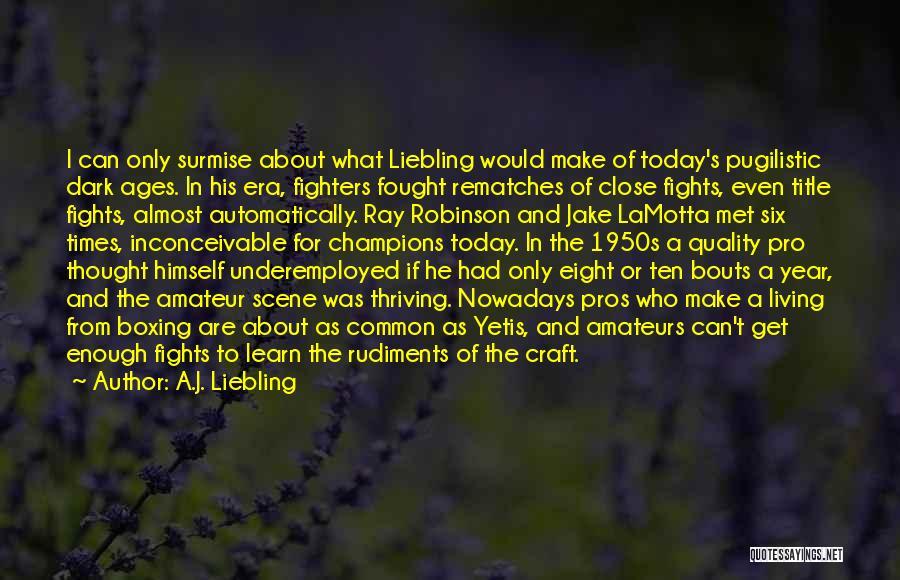 Surmise Quotes By A.J. Liebling