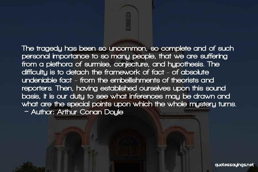 Surmise Quotes By Arthur Conan Doyle