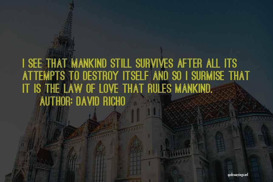 Surmise Quotes By David Richo
