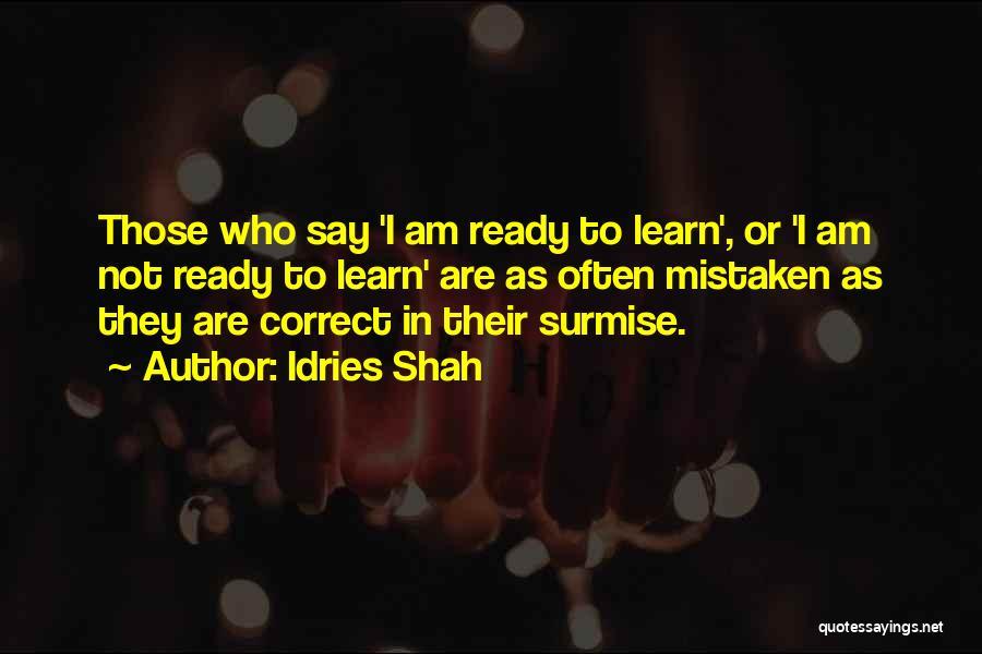 Surmise Quotes By Idries Shah