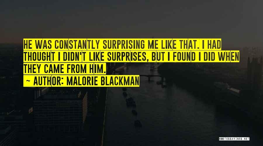 Surprising Yourself Quotes By Malorie Blackman