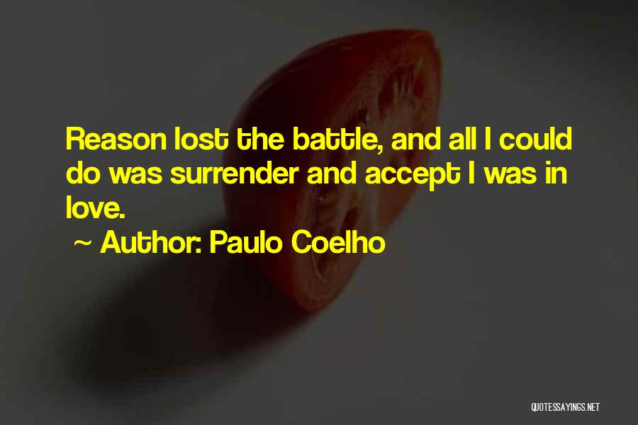 Surrender And Acceptance Quotes By Paulo Coelho