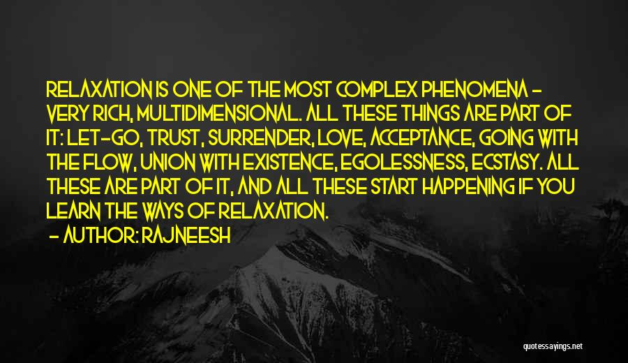Surrender And Acceptance Quotes By Rajneesh