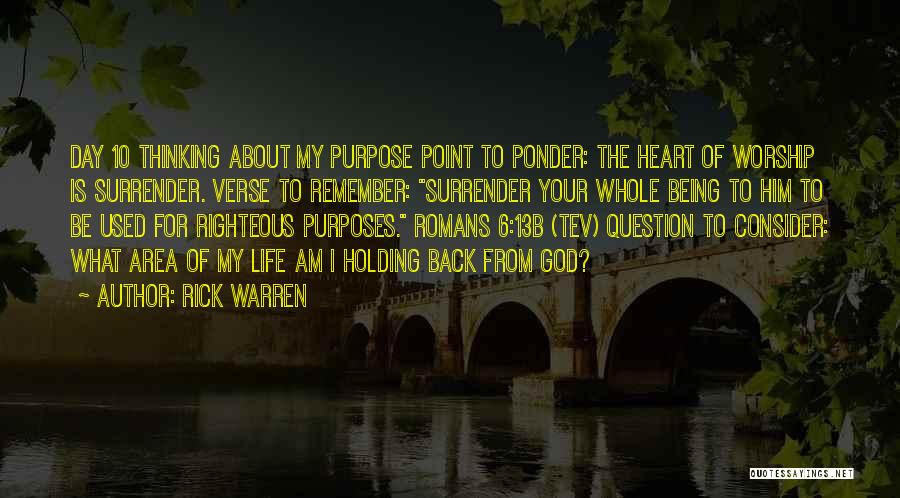 Surrender To God Quotes By Rick Warren