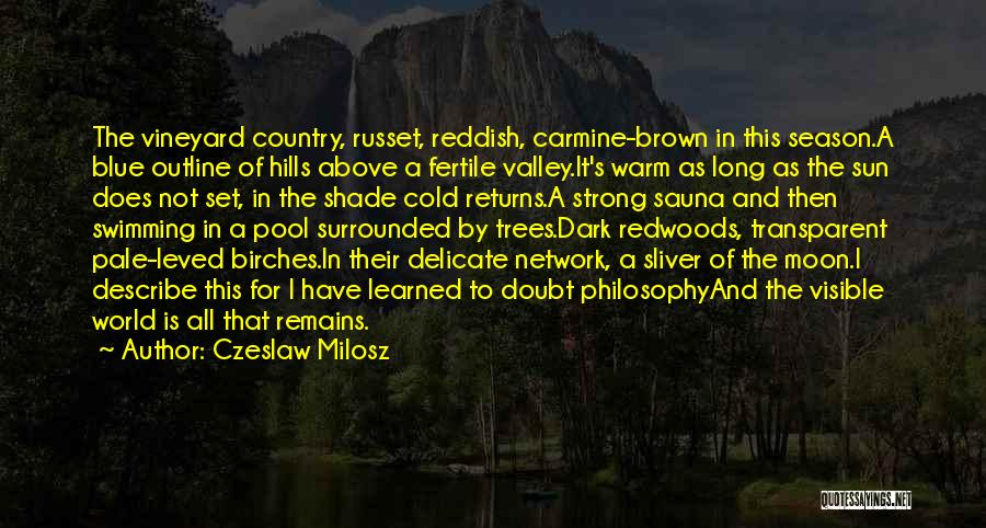 Surrounded By Trees Quotes By Czeslaw Milosz