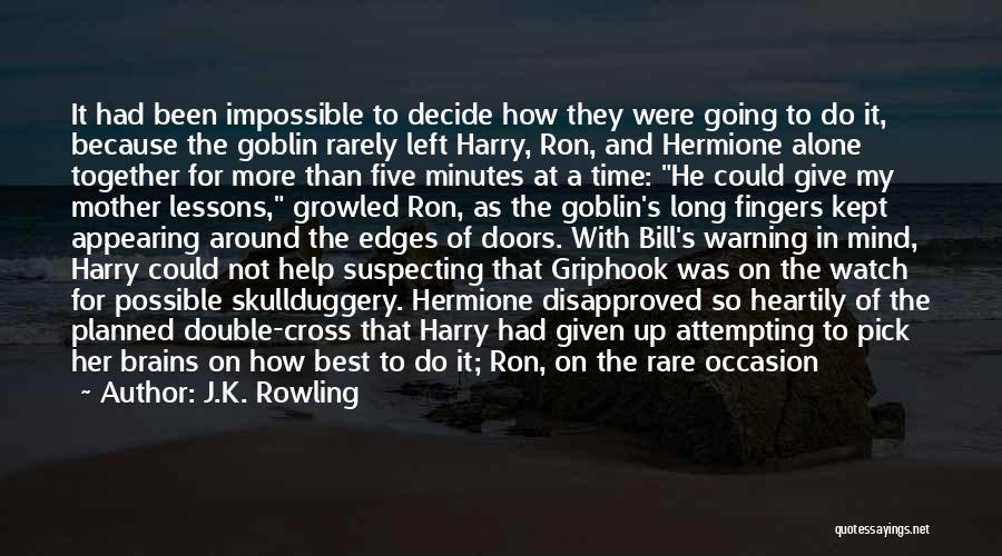 Suspecting Quotes By J.K. Rowling
