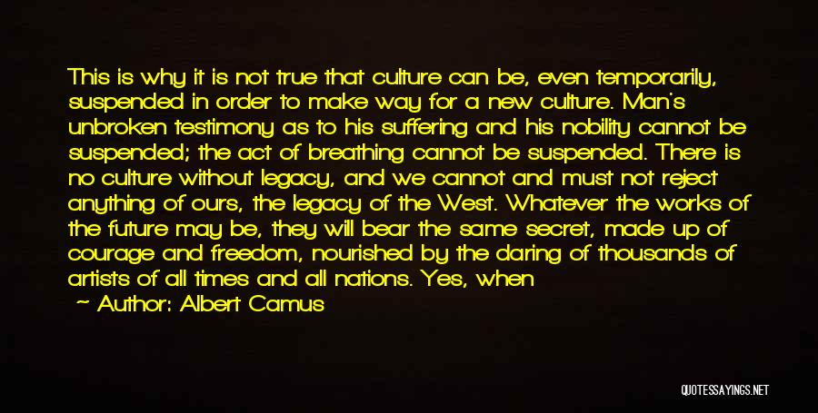 Suspended Quotes By Albert Camus