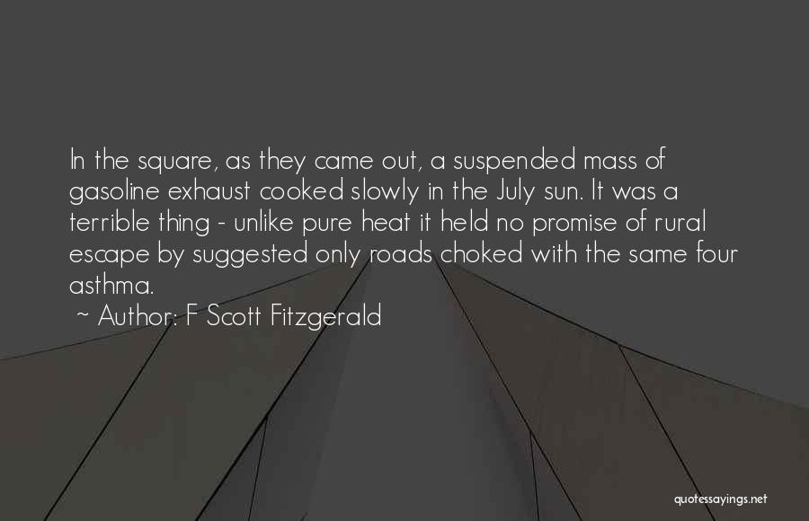 Suspended Quotes By F Scott Fitzgerald