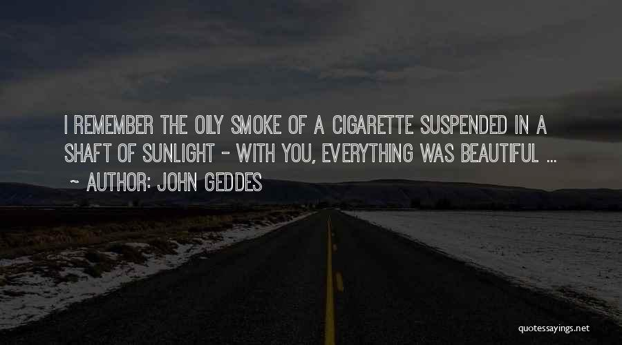 Suspended Quotes By John Geddes