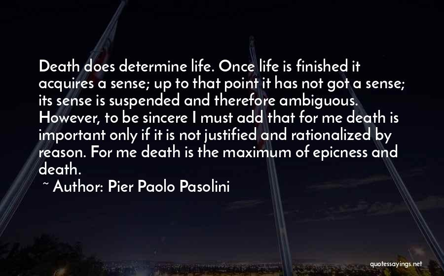 Suspended Quotes By Pier Paolo Pasolini