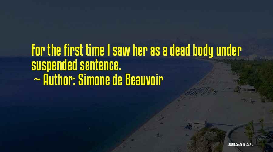Suspended Quotes By Simone De Beauvoir