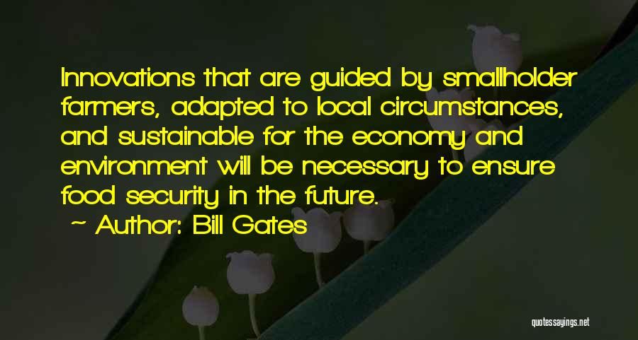 Sustainable Environment Quotes By Bill Gates