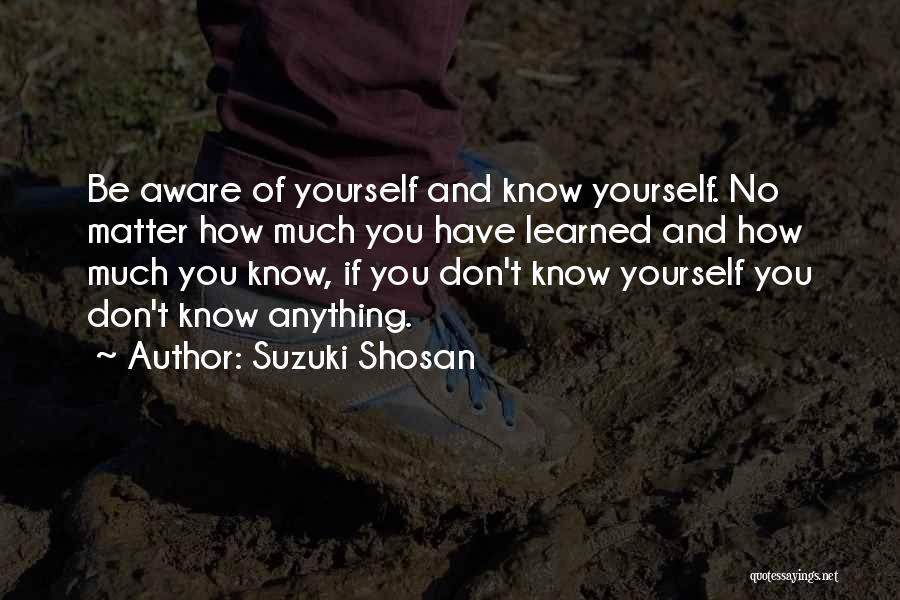 Suzuki Shosan Quotes 360215