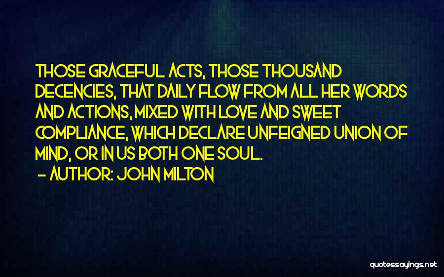 Sweet Love Words And Quotes By John Milton