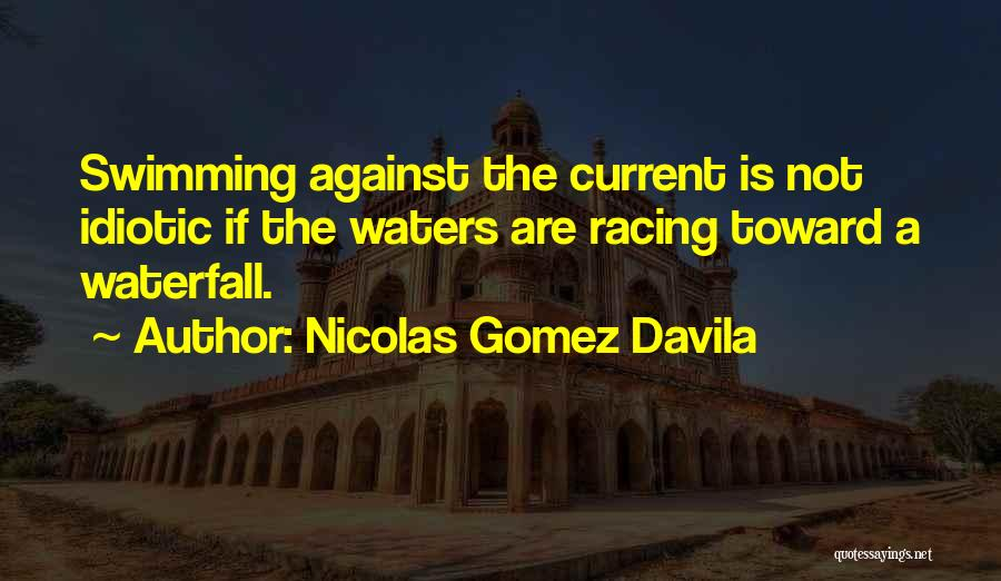 Swimming Against The Current Quotes By Nicolas Gomez Davila