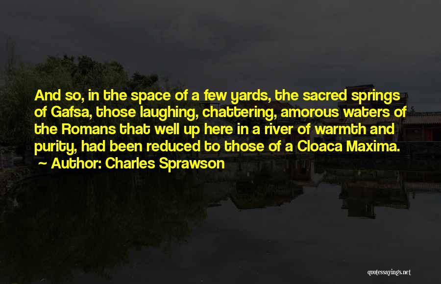 Swimming In The River Quotes By Charles Sprawson