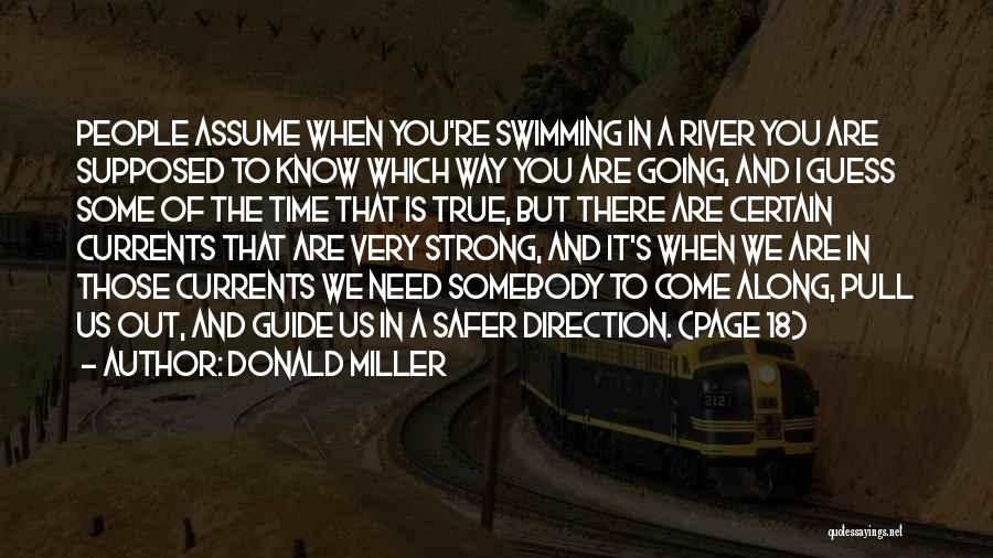 Swimming In The River Quotes By Donald Miller