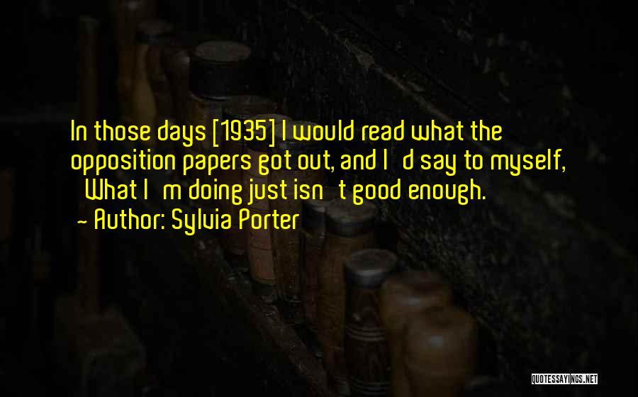Sylvia Porter Quotes 1446461