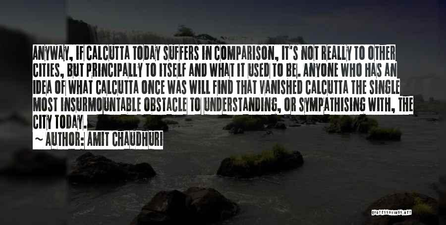 Sympathising Quotes By Amit Chaudhuri