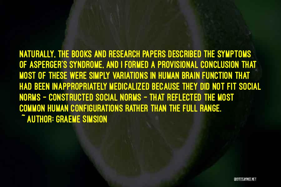 Syndrome Quotes By Graeme Simsion