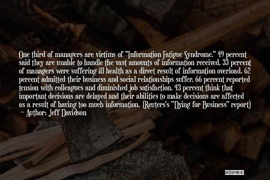Syndrome Quotes By Jeff Davidson