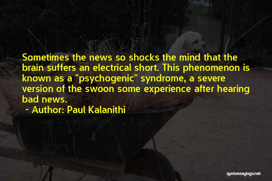 Syndrome Quotes By Paul Kalanithi