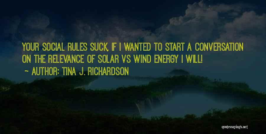 Syndrome Quotes By Tina J. Richardson