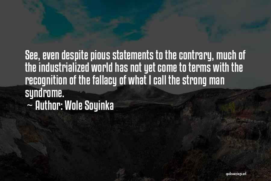 Syndrome Quotes By Wole Soyinka