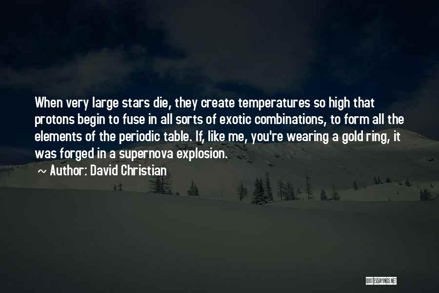 Table Of Elements Quotes By David Christian