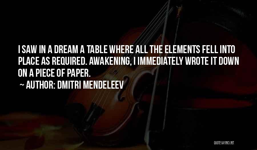 Table Of Elements Quotes By Dmitri Mendeleev
