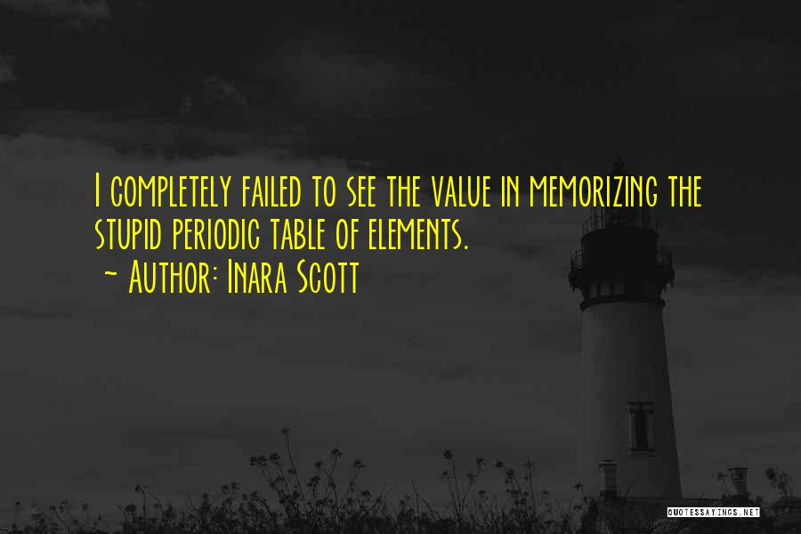 Table Of Elements Quotes By Inara Scott