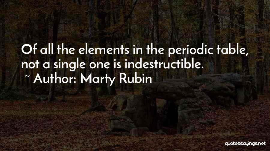Table Of Elements Quotes By Marty Rubin