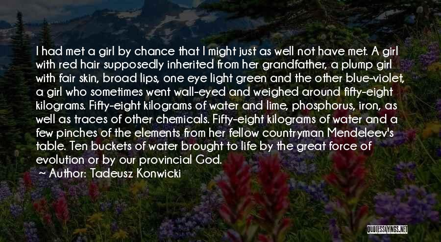 Table Of Elements Quotes By Tadeusz Konwicki