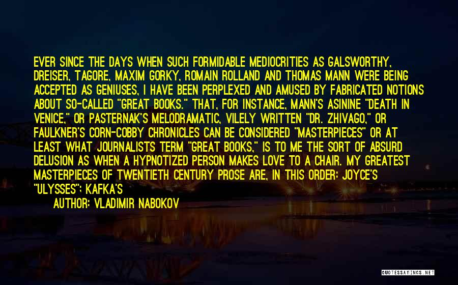 Tagore's Quotes By Vladimir Nabokov