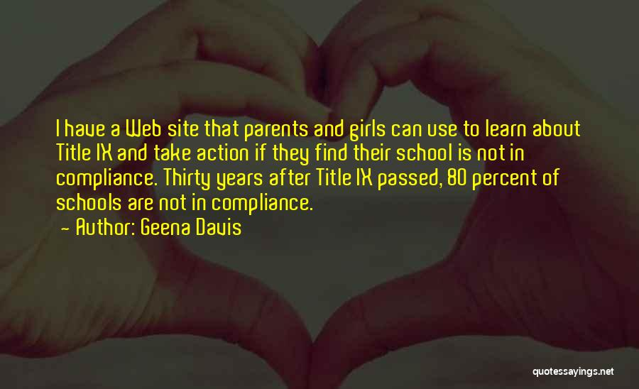 Take Action Quotes By Geena Davis