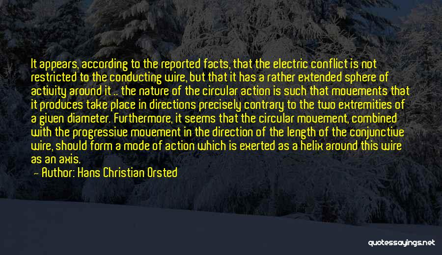 Take Action Quotes By Hans Christian Orsted