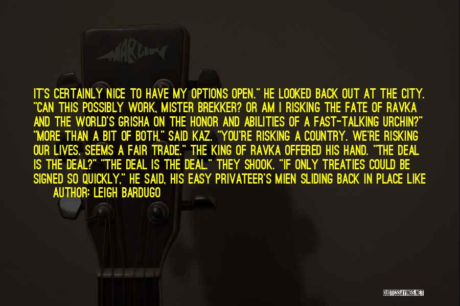 Take It Easy At Work Quotes By Leigh Bardugo