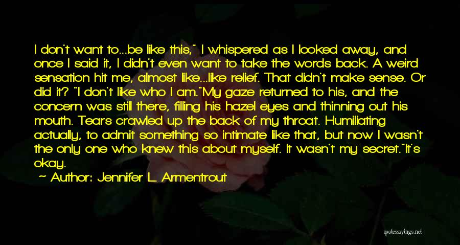Take Me As I Am Not Who I Was Quotes By Jennifer L. Armentrout