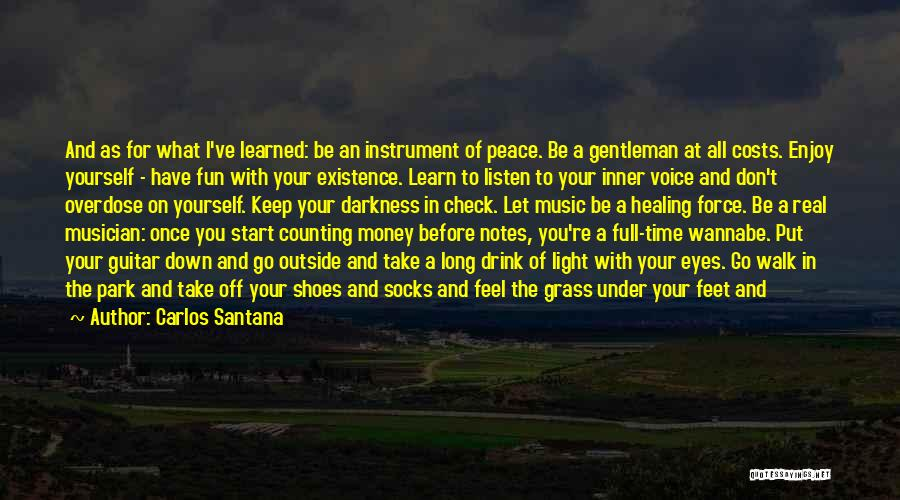 Take Off Your Shoes Quotes By Carlos Santana