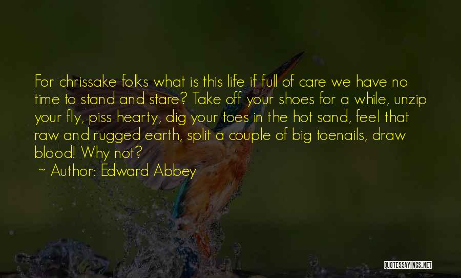 Take Off Your Shoes Quotes By Edward Abbey